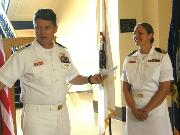 promotion ceremony for the Navy