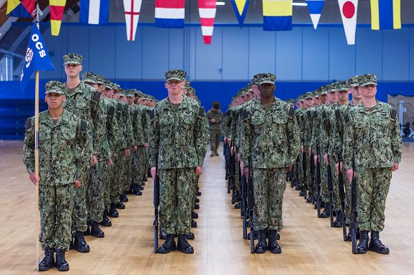 Students with Officer Candidate School (OCS) class 04-20