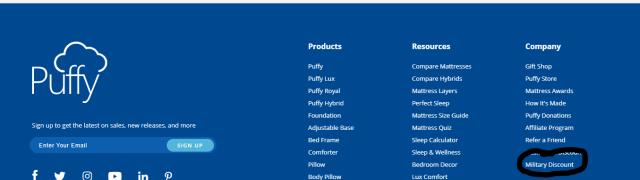 Puffy mattress military discount