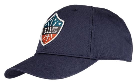patriot shield patch hat