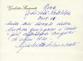 's handwritten message for Xmas at age 95