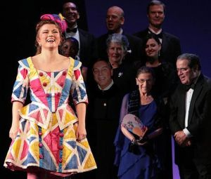 Associate Justices of the United States Supreme Court Antonin Scalia and Ruth Joan Bader Ginsburg are visible in this Ariadne auf Naxos curtain call.