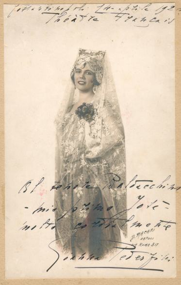 Pederzini's debut as Carmen in 1924 Turkey
