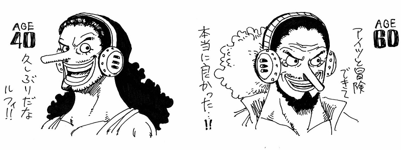 The age problem was discussed by the writer of one piece, eiichiro oda in a recent volume. How One Piece Characters Would Look At 40 And 60 Years Old One Piece