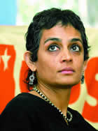 'Kashmir be given to Pakistan': Slipper thrown at Arundhati Roy
