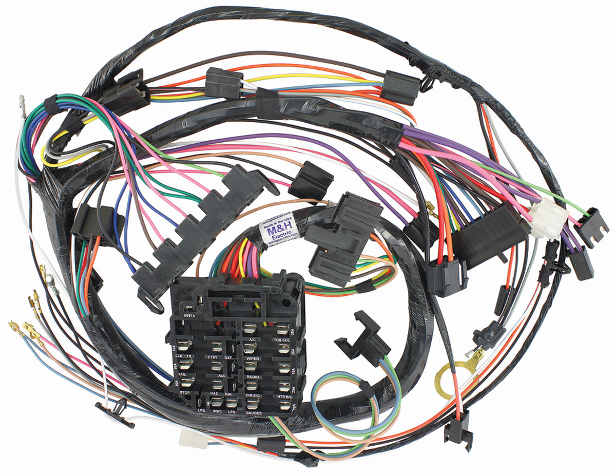 M&H Monte Carlo DashInstrument Panel Harness (with Gauges) Fits 1974 Monte Carlo @ OPGI