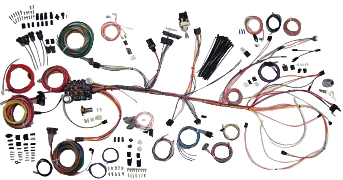 American Autowire Chevelle Wiring Kit, Classic Update Fits 196467 Chevelle @ OPGI