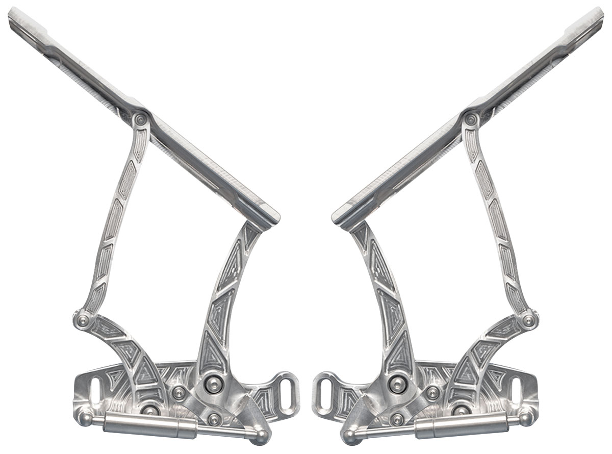 67 Gto Hood Hinges Billet Aluminum For Steel Hoods