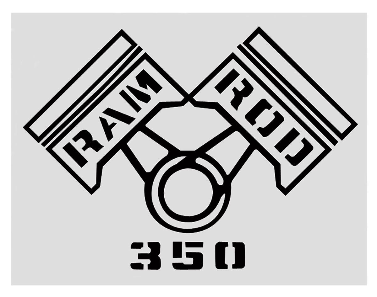 Restoparts Fender Decal Black Ram Rod 350 Fits