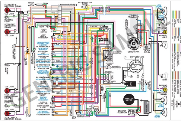 wiring diagram 1973 chevelle 11x17 color