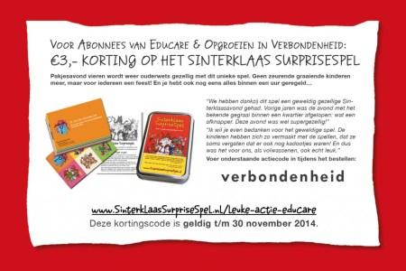 Kortingscoupon: 3 euro korting op Sinterklaas Surprisespel