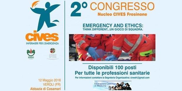 Emergency and Ethics - Secondo congresso Provinciale del Nucleo CIVES di Frosinone