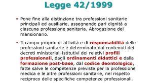 Legge 42/99 Disposizioni in materia di Professioni Sanitarie - LIS