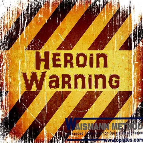 heroin warning sign with waismann method logo