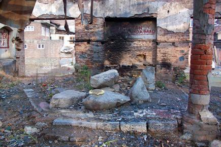 Ruins left after Kashmiri Pandit exodus