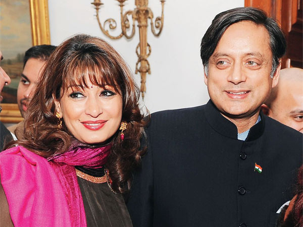 Sunanda Tharoor and Shashi Tharoor