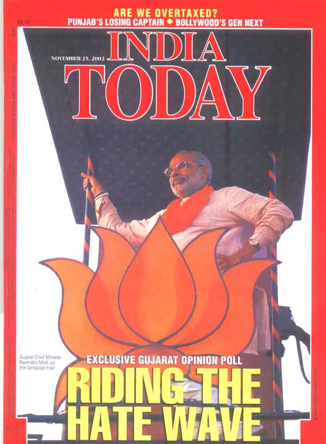 India Today cover page from 2002