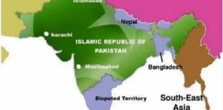 crazy map of India by Pakistan