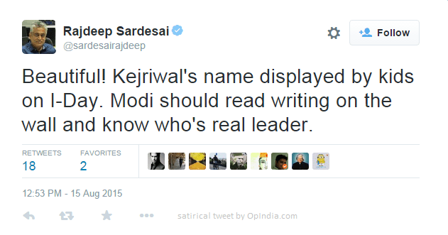 Independent and unbiased journalist Rajdeep Sardesai could decipher the message.