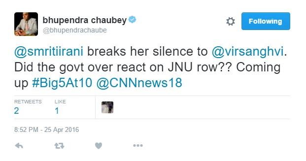 Bhupendra Chaubey's tweet