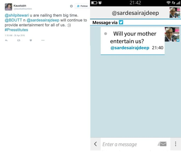 Rajdeep's abusive replies