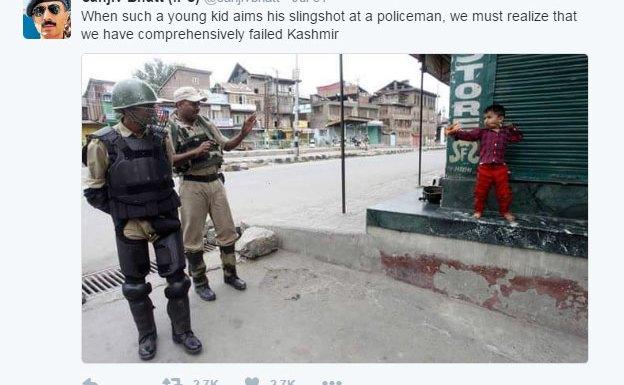 Screenshot of the tweet that Sanjiv Bhatt posted at 8:17 PM on 31 Jul 2016