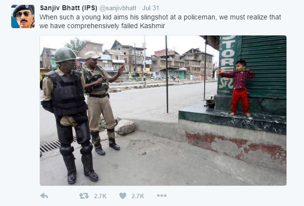 Screenshot of the tweet that Sanjiv Bhatt posted at 8:17 PM on 31 Jul 2016