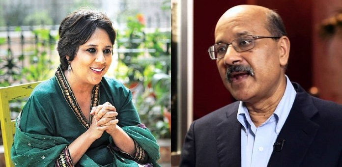 The Print founders Barkha Dutt and Shekhar Gupta