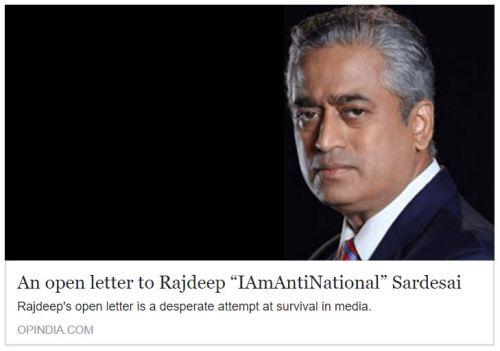 "An open letter to Rajdeep ""IAmAntiNational"" Sardesai"