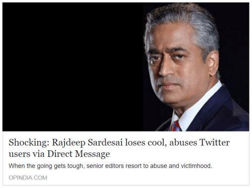 Shocking: Rajdeep Sardesai loses cool, abuses Twitter users via Direct Message