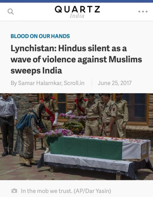 Direct call to Hindus to feel ashamed and guilty