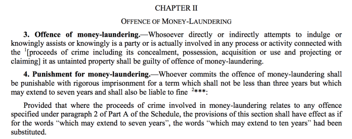 Prevention of Money Laundering Act, 2002