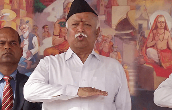 Rashtroday 2018: At a massive RSS meet in Meerut, Mohan Bhagwat clamours for all Hindus to unite