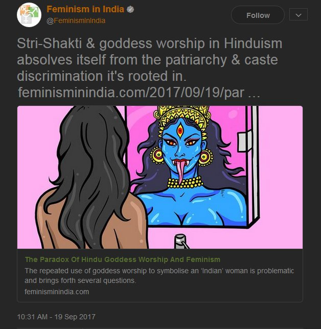 Hinduphobia by 'Feminism in India'