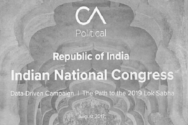 Rebel Congress supporter reveals how Cambridge Analytica convinced the party to be its client