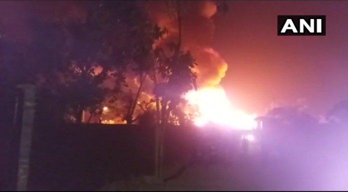 Rohingya camp caught fire in kalindikunj area