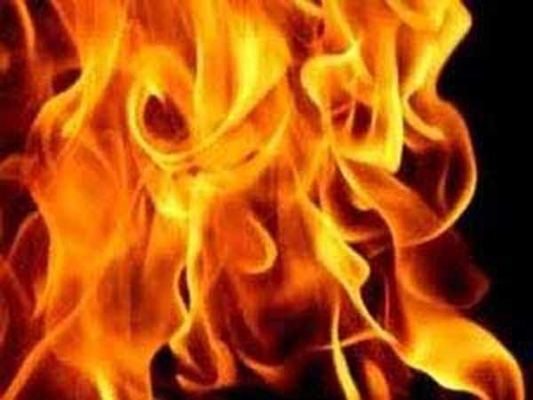 Dalit family set on fire inside their thatched house