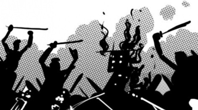 Cr stuck in Muharram procession attacked with rods and sticks in Prayagraj
