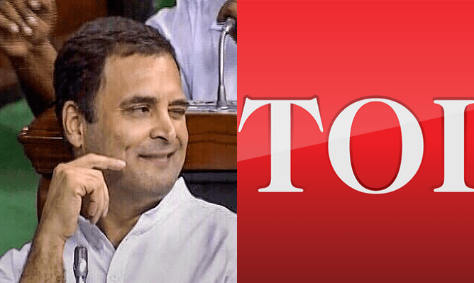 Times of India tries to paint Rahul's humiliation as a victory, gets schooled on Twitter