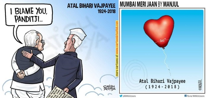 How not to pay tribute to the departed – these two cartoons are the best examples
