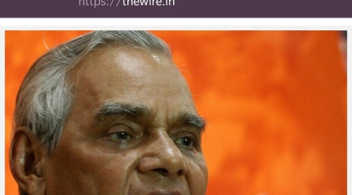 The Wire edit's Vajpayee's words to spread lies