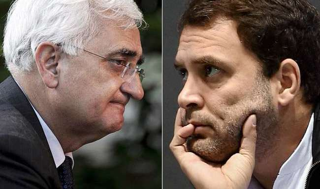 Salman Khurshid and Rahul Gandhi