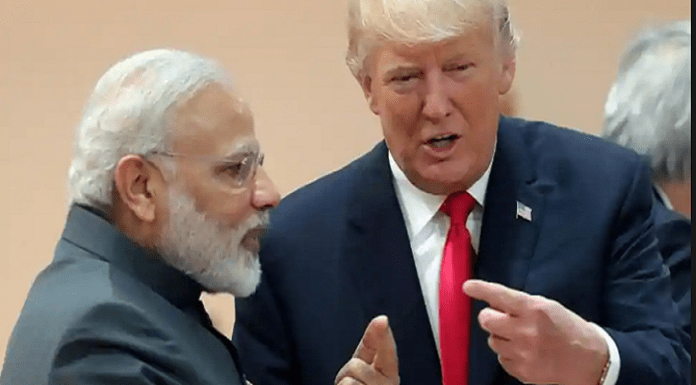 President Trump with PM Modi at G20.