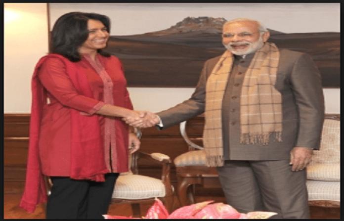 Tulsi Gabbard with PM Modi