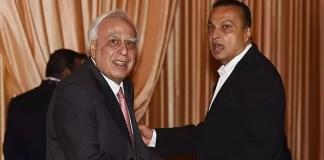 Kapil Sibal with Anil Ambani