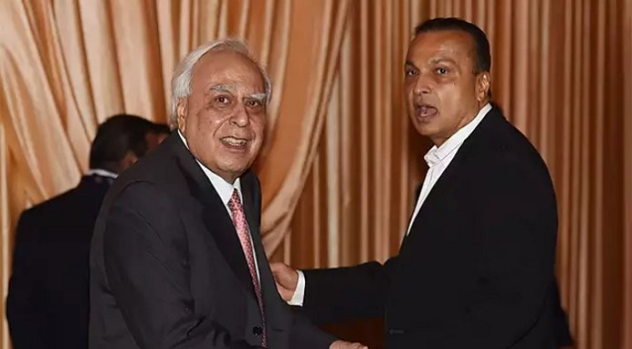 Kapil Sibal with Anil Ambani