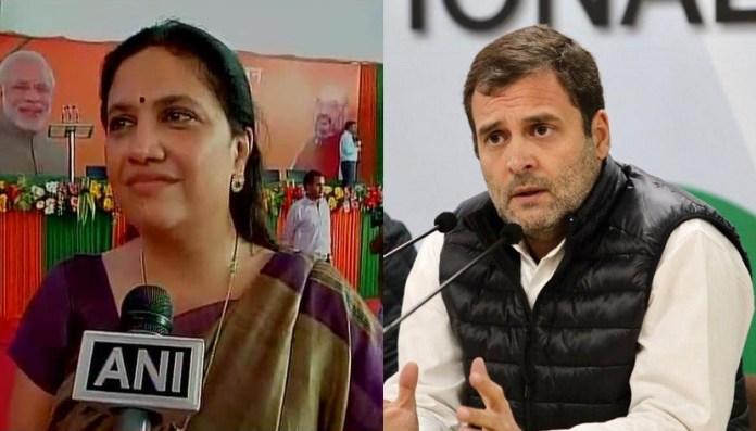 Smita Prakash and Rahul Gandhi