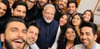 Modi pic with actors