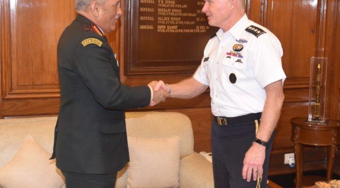 COAS Bipin Rawat met Commander of US Special Ops Command