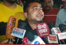 Ashish Pathak, a hindu Yuva Vahini member, was brutally beaten up by Congress workers